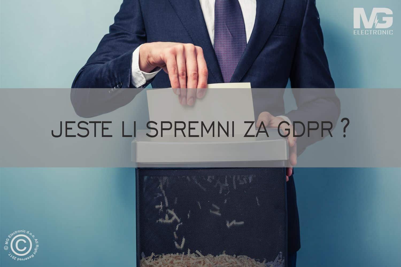 Jeste li spremni za GDPR - MG Electronic d.o.o. - Unitavanje dokumenata -Papira