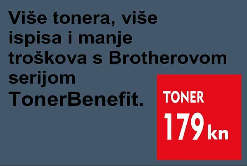 Brother TonerBenefit serija 179kn originalni toner © All Rights Reserved M.G. Electronic d.o.o. 2020.